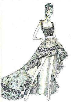 7f802c0a02a Pronovias  fotos bocetos vestidos de novia 2013
