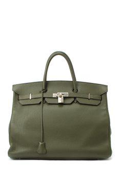 e1ae418e8d Vintage Hermes Leather Birkin Kelly Bag
