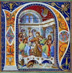 """niziale """"N"""", frammento tratto dal Corale di Alessandro VI, (1492-1503 circa), British Library, Londra."""