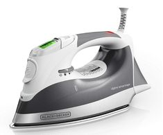 Iron Steam Digital Advantage Professional LCD Screen Gray for sale online Steam Iron Reviews, Best Steam Iron, Best Iron, Iron Steamer, How To Iron Clothes, Beige, Water Tank, Housekeeping, Autos