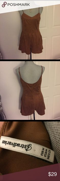 "Stradivarius Light Brwn/burnt orange Romper Size M Preloved! In good condition! 100% Polyester. Measures approx 30 shoulder to hem 14 1/2"" armpit to armpit measures 17"". 🚫Trades! Open to reasonable offers through the offer button! stradivarius Other"