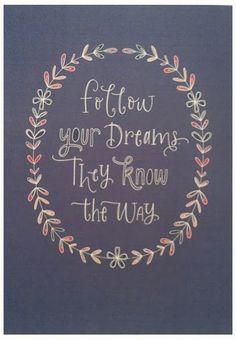 Dreams - printable wall art