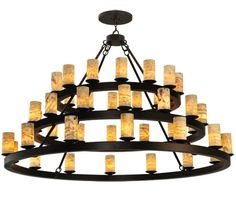 Church Way 9 Light Mission Style Chandelier