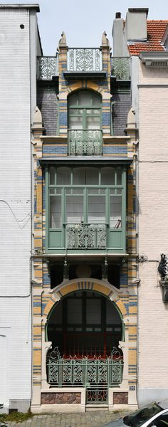 BRUSSELS, Belgium, Paul Hankar, Hôtel Albert Ciamberlani, 1897 rue