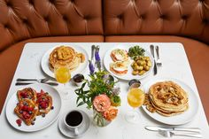 Best Brunch in NYC: Good Brunch Spots to Try in Every NYC Neighborhood - Thrillist Brunch Nyc, Brunch Spots, Brunch Menu, Rooftop Restaurants Nyc, Havana Cafe, Baking Company, Bacon Egg, Short Ribs, Roasted Tomatoes