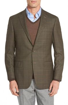 Hart Schaffner Marx 'New York' Classic Fit Plaid Wool Sport Coat