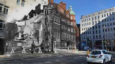 Een fotograaf van Getty Images voegde zwart-witfoto's van toen samen met kleurenafbeeldingen van het huidige Londen.
