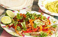 fajitas de pollo - recipe (in spanish): http://www.comedera.com/receta-de-fajitas-de-pollo/