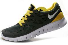 66423af706 Ch5386 Nike Free Run 2 Women s Running Shoe Dark Grey White-Yellow Free  Basketball