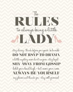 Little Lady Rules. $12.00, via Etsy.