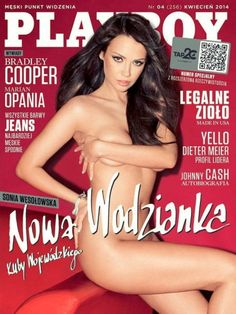 Playboy (Poland) April 2014  with Sonia Wesołowska on the cover of the magazine