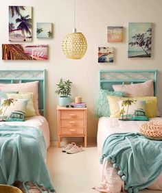 Teen Girl Bedrooms, delighfully dreamy transformation, analyze the info 9503999412 - A big dose of teen room decor ideas. Surfer Bedroom, Surfer Girl Rooms, Surfer Girls, Tropical Bedrooms, Tropical Bedroom Decor, Tropical Decor, Tropical Style, Tropical Interior, Teen Girl Bedrooms