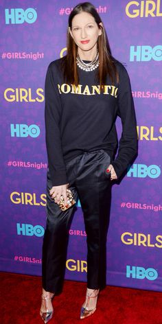 Jenna Lyons- sweatshirt and heels