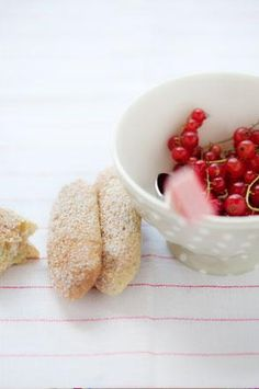 berries with madeleines