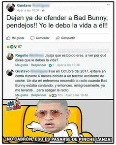 Humor negro - Bad Bunny :v - Best Pins Live Funny Spanish Memes, Spanish Humor, Funny Videos, Funny Images, Funny Pictures, Funny Comics, Best Memes, Paphos, I Laughed