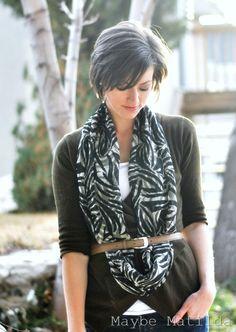 3-Step Infinity Scarf: Minimal Sewing