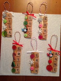 Scrabble ornaments... another idea taken from pinterest