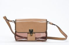Durchblick! Transparente Tasche mit Leder