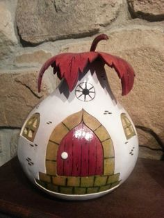 Hand carved gourd house by Createbycoloring on Etsy, $43.00