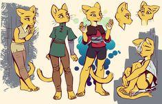 Making a cat cry,разное,Katia Managan,Makkon Character Inspiration, Character Design, Cat Crying, Sketch Photoshop, Yellow Cat, Furry Girls, Hand Sketch, Anthro Furry, Fursuit