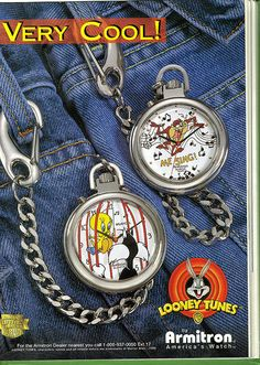 Looney Tunes Chain Watches - 1996
