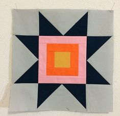 Nice, modern Sawtooth Star block by City Stitches. Modern Quilt Blocks, Star Quilt Blocks, Star Quilts, Quilt Block Patterns, Mini Quilts, Baby Quilts, Quilting Projects, Sewing Projects, Patchwork Quilt