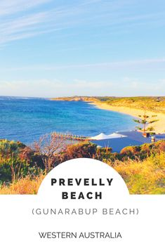 Gunarabup Beach (Prevelly Beach), Margaret River Region, Western Australia, Australia | Gnarapub Beach starts at the southern end with a large limestone cliff. The lookout on top of the cliff offers amazing views over the beach and Surfers Point and the River mouth in the distance.
