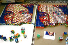Rubix Cube Pixel Art