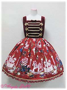 <3 <3 <3  Holy Night Story Switch JSK in wine - Angelic Pretty