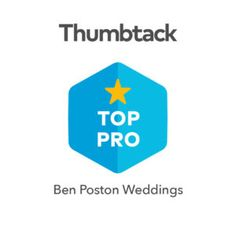 The folks at @thumbtack have awarded Ben Poston Weddings with their Top Pro designation... ... For the THIRD straight year in a ROW!!  Thanks so much to all of the many happy couples who gave me the honor of marrying them!