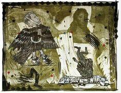 Demián Flores - La Patria 1 Litografía. Impreso en Taller La Ceiba Gráfica 2009 93.5 x 115 cm