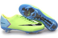 Nike Mercurial Vapor X FG Cleats - Neon Green Sky Blue Black New Soccer Shoes 2013 [New Football Shoes 2013 039] - $57.46 : Cuteststuff.com is a great site for cutest stuff Cheap