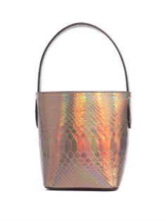 Azzedine Alaïa Hologram python bag. Sure to make an impact after-hours; check your make-up with the detachable mirror to stay flawless 'till dawn.