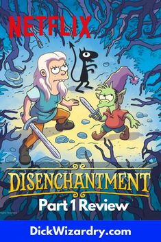 From the creators of the Simpsons and Futurama, a new theme yet to be explored is on Netflix. If you try and mash the two shows together and put them in a fantasy world. You get Disenchantment. A Story of a princess named Bean (Abbi Jacobson) that goes on adventures with her friends Elfo (Nat Faxon) and Lucy (Eric Andre). Fantasy Tv Series, Fantasy World, Abbi Jacobson, Eric Andre, Grand Designs, Futurama, New Theme, The Simpsons, Netflix