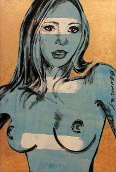 DAVID BROMLEY  Nude  Polymer & Gold Leaf on Canvas 90cm x 60cm
