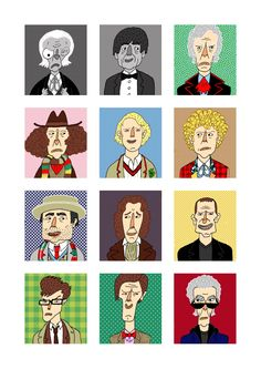 Doctor Who - Pop Culture Portraits by Curtis Rosenthal