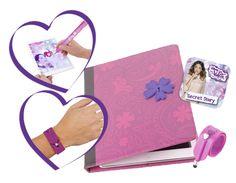 """""""Diario Secreto Violetta"""" , compatible con Android y Apple. Incluye una funda universal para tablets de 7 a 10 pulgas e iPad y un magnifico lápiz digital con el que podran escribir y dibujar pero que además es una divertida pulsera con exclusivo diseño Violetta, para estar siempre a la última."""