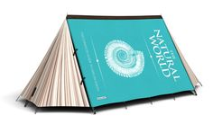 "Pricey? Yes. But you have to admit this ""Fully Booked"" tent from FieldCandy makes you smile."