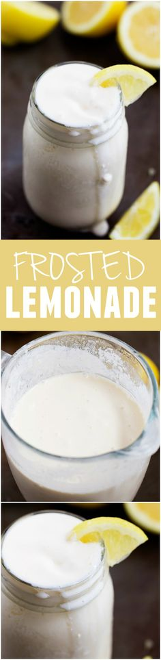 This Frosted Lemonade taste exactly like Chick-fil-A and will be the creamiest most delicious refreshing drink that you make this summer!