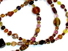 Multicolored Golden Toned Beaded Eyeglass Chain Office by nonie615, $16.00