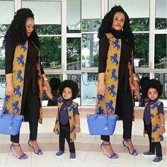 Choose from the best and beautiful matching African ankara styles for mother and daughter. These ankara styles are meant for stunning mother and daughter African Attire, African Wear, African Women, African Dress, African Beauty, African Style, African Print Fashion, African Fashion Dresses, Ghanaian Fashion