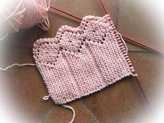 LA CANASTILLA DE CHARO: VOLANTE PARA TOQUILLA DE BEBE, ROMBOS I Diy Crochet, Crochet Bikini, Crochet Top, Crochet Hats, Baby Knitting Patterns, Blanket, Women, Cowl, Vestidos