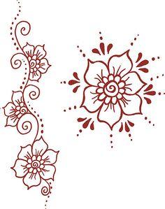 Simple clipart henna #13