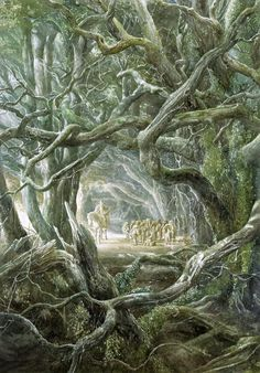 A tribute to Alan Lee, best known as the illustrator of J. Tolkien's The Hobbit and The Lord of the Rings. Alan Lee, Hobbit Art, O Hobbit, Gandalf, Legolas, Thranduil, Fantasy World, Fantasy Art, Lord Of Rings