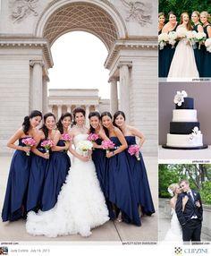 Navy + White Weddings