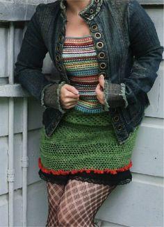 10 Types of Unique Crochet Dresses: Crochet Mini Dresses