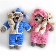 ... net > patterns > Tilda & Filur's patterns > Tilda Bear with Nightwear