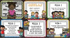 Nuevas Normas para nuestra clase o salón Preescolar y Primaria. Tarjetas imprimibles