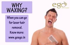 Get rid of ‪#‎unwanted‬ hair, book your appointment for ‪#‎laser‬ hair removal at ‪#‎EgoWellness‬.