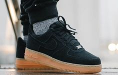 Nike Air Force 1 Low Suede Black Gum (homme) (1)